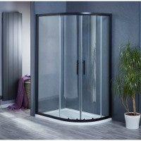 Aqua-I6 Black Offset Quadrant Shower Enclosure