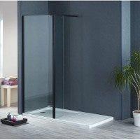 Aqua-I8 Black 1900mm High Wetroom Panels