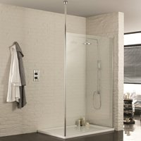 Walk-in Wetroom Panel with Single Post