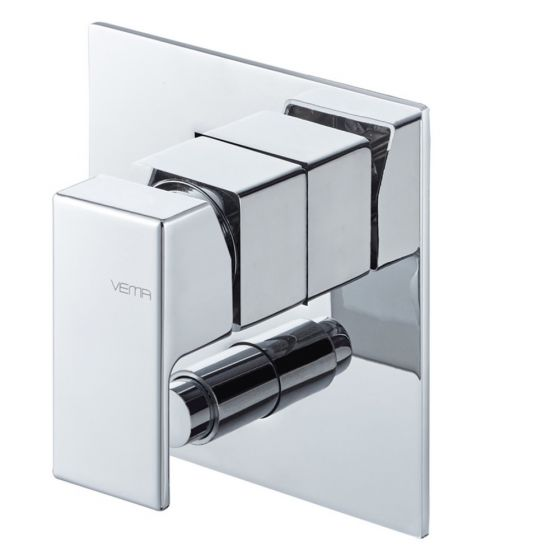 Vema Lys Two Outlet Concealed Shower Mixer with Diverter - Chrome