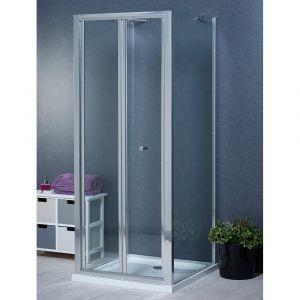 Aqua-I 3 Sided Shower Enclosure - 1000mm Bifold Door and 760mm Side Panels