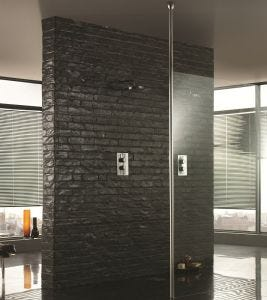 Aquadart Wetroom Floor to Ceiling Post