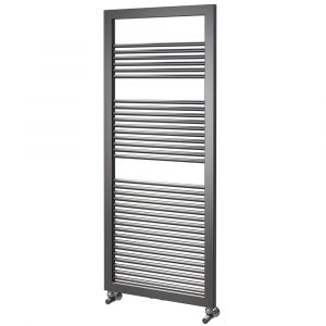 Asquiths Round Tube Radiator 1200mm x 500mm - Mineral Anthracite