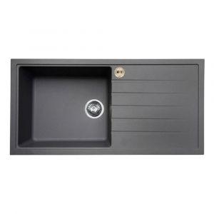 Bristan Gallery Quartz Sink 1 Bowl 1000mm Dawn Grey Right Hand