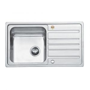 Bristan Index Sink Top 1 Bowl Square Steel Universal 860mm