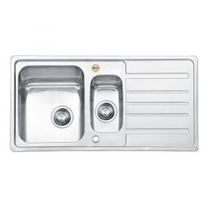 Bristan Index Sink Top 1.5 Bowl Square Steel Universal 970mm