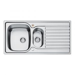 Bristan Inox Sink Top 1.5 Bowl Round Steel Universal 1000mm