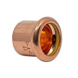 Copper Gas Press-Fit Cap End 15mm