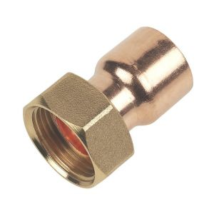End Feed Straight Tap Connector 15mm x 3/4
