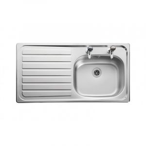 Leisure 950mm x 508mm 2TH Inset Sink Top Left Hand Drainer