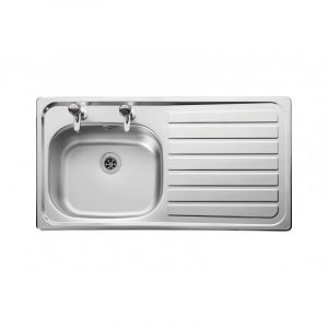 Leisure 950mm x 508mm 2TH Inset Sink Top Right Hand Drainer