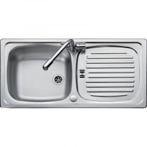 Leisure 860mm x 435mm 1TH Reversible Inset Sink Top