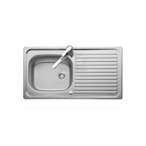 Leisure 950mm x 508mm 1TH Reversible Inset Sink Top