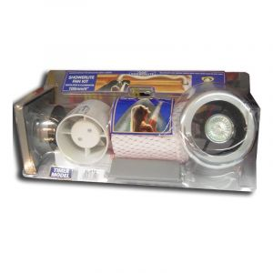 Manrose Chrome Showerlite Fan Kit with Timer 100mm / 4