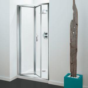 Optima Bi-Fold Door Chrome - Clear Glass - 760mm