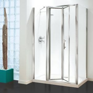 Optima Inline Panel Pack Chrome - Clear Glass - 1000mm