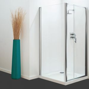 Optima Side Panel White - Clear Glass - 760mm