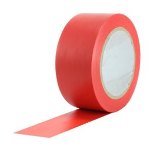 Red PVC Tape 50mm x 33m Roll