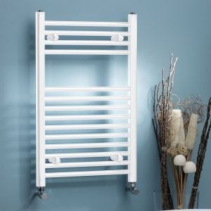 Roma White Curved Towel Rail - 22mm Tube