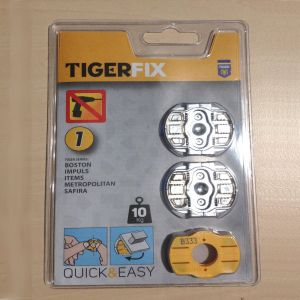Pack of 2 Coram Tigerfix Wall Mounting Adhesive Fittings