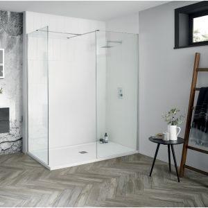 Aquadart Walk-In Wetroom 8 Shower Panel 1100mm