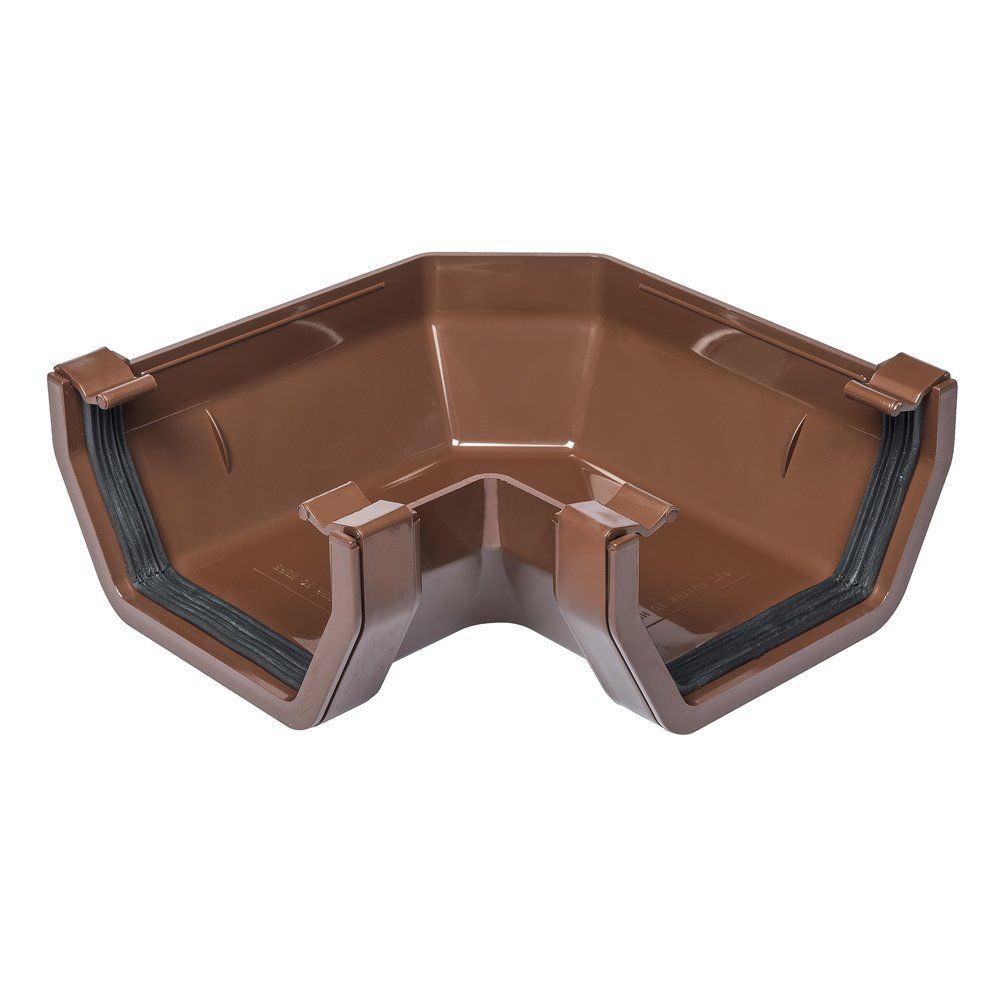 Brown 112mm Square 90 Degree Gutter Angle