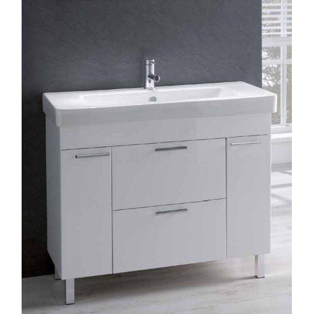 Eastbrook Sorrento 1000mm 2 Door 2 Drawer Vanity Unit With Basin White 1 516 83 0020 Plumbing World
