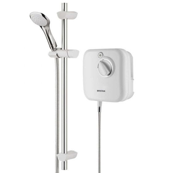 Bristan Thermostatic Power Shower 1000 White / Chrome