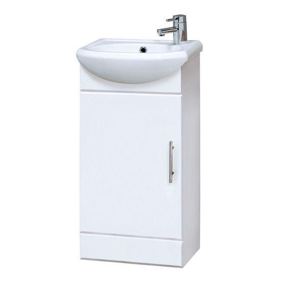 Premier Mayford Cloakroom 420mm Cabinet & Basin - Gloss White
