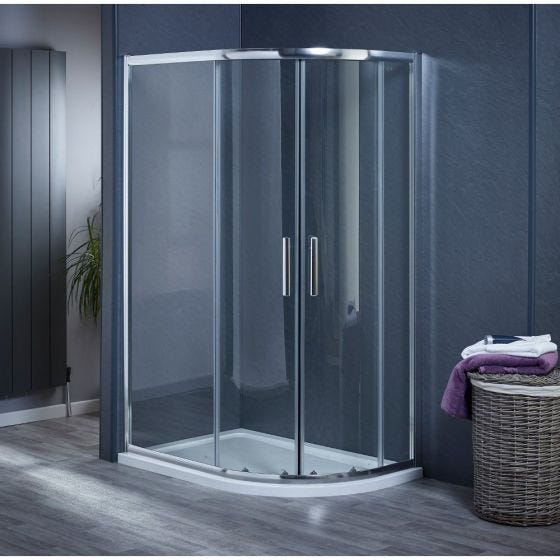 Aqua-I6 Offset Quadrant Shower Enclosure 1100mm x 800mm x 1850mm High