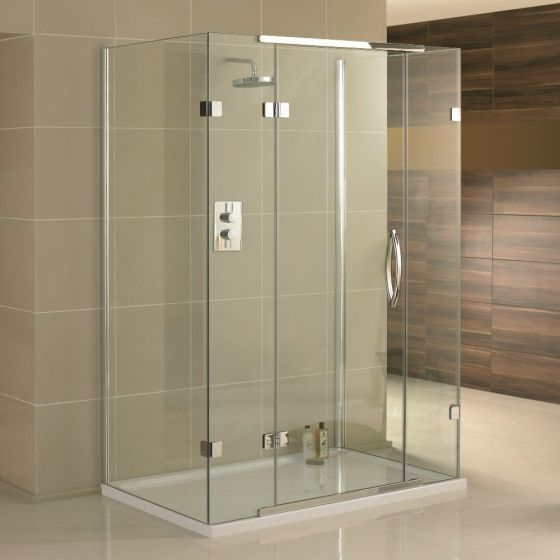 Aquadart Inline 3 Sided Frameless Shower Enclosure