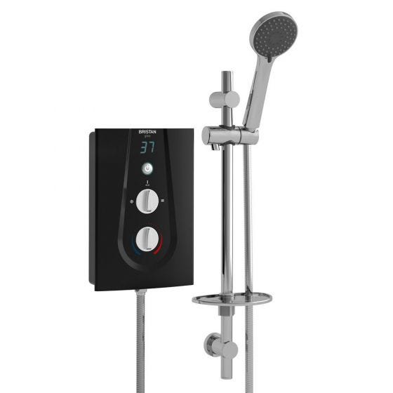 Bristan Glee Digital Electric Shower 8.5kW Black / Chrome