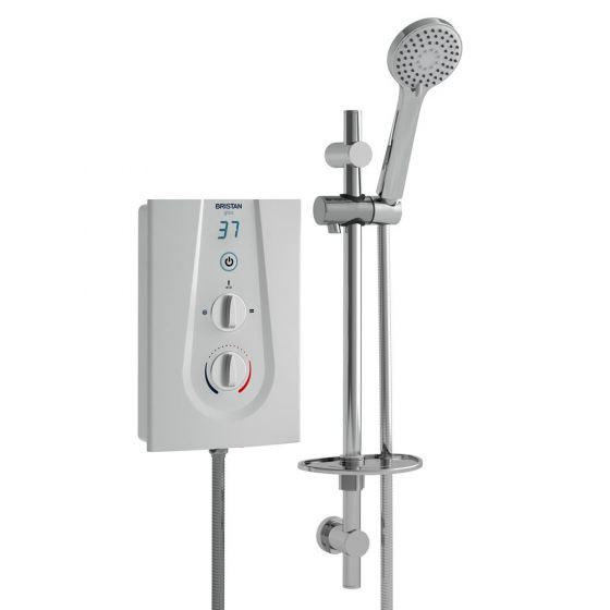 Bristan Glee Digital Electric Shower 9.5kW White / Chrome