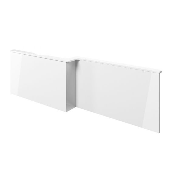 BTL Volta L-Shape White Gloss Front Bath Panel - Left Handed