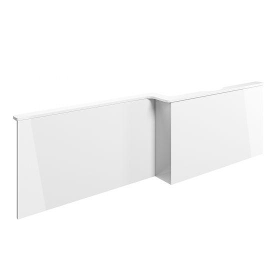 BTL Volta L-Shape White Gloss Front Bath Panel - Right Handed