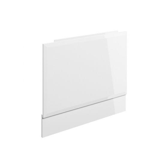 BTL Volta White Gloss Wood Effect 700mm End Bath Panel