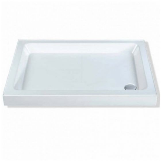 Roma Classic Shower Trays Stone Resin Rectangle 800mm x 700mm Flat top