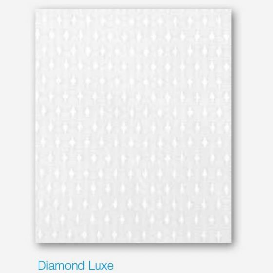 White Diamond Lux Polyester Shower Curtain 180cm Wide x 180cm High