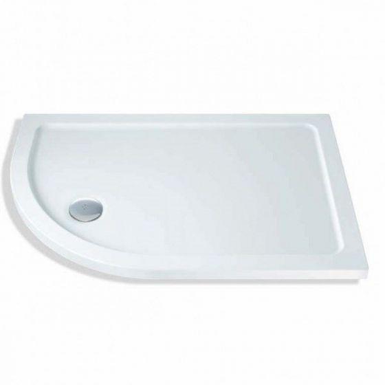 MX Elements Low profile Quadrant shower trays Stone Resin Offset Quadrant Left Hand 900mm x 760mm Flat top