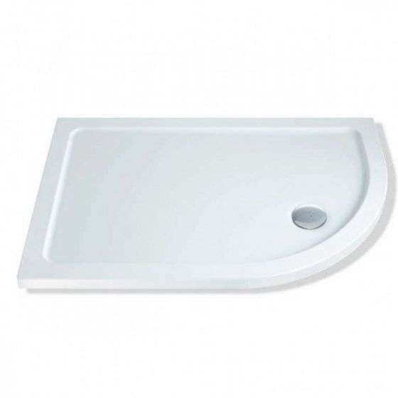 MX Elements 1000mm x 760mm Stone Resin Offset Quadrant Shower Tray Right Hand