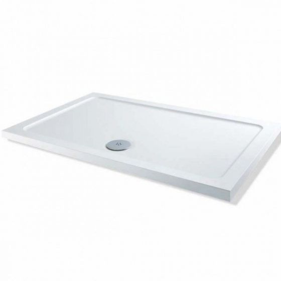MX Elements Low profile shower trays Stone Resin Rectangle 1000mm x 760mm Flat top