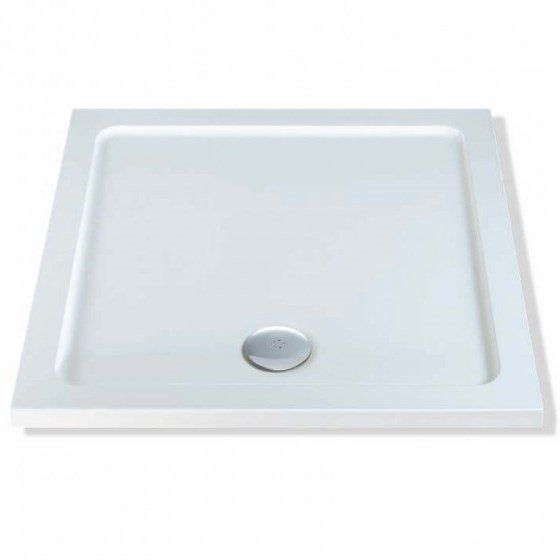 MX Elements Low profile shower trays Stone Resin Square 900mm x 900mm  Flat top