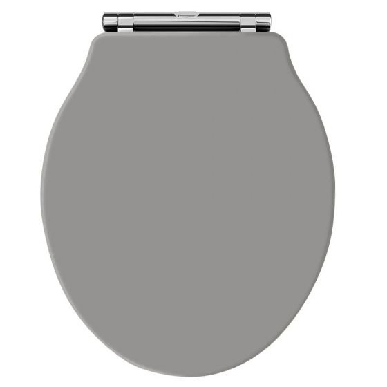 Hudson Reed Old London Chancery Soft Close Toilet Seat - Storm Grey