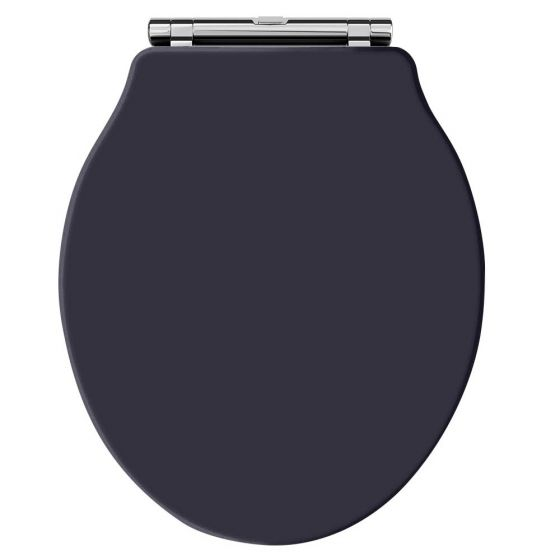 Hudson Reed Old London Chancery Soft Close Toilet Seat - Twilight Blue