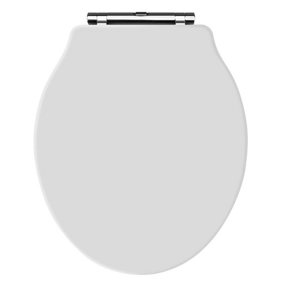 Hudson Reed Old London Chancery Soft Close Toilet Seat - White