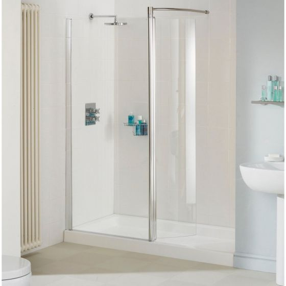 Lakes Silver Walk in Enclosure 1400mm Front Panel with Optional Side Panel & End Panel