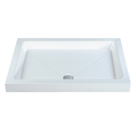 Roma Classic shower Trays Stone Resin Rectangle 1400mm x 900mm Flat top