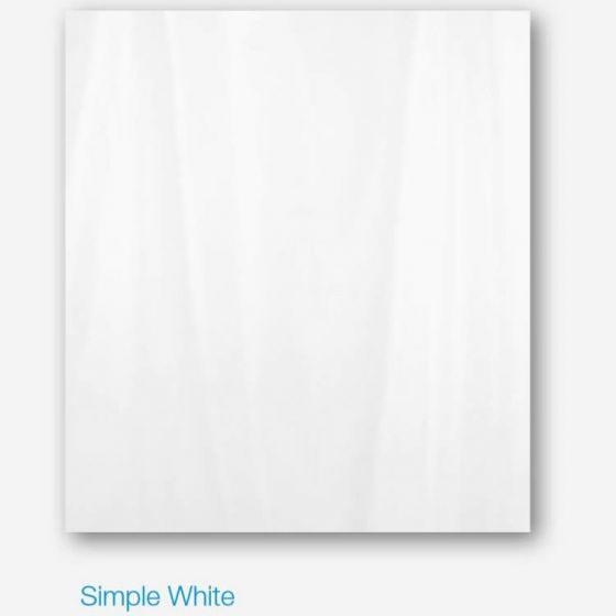 White Anti Bacterial Polyester Shower Curtain 180cm Wide x 200cm High