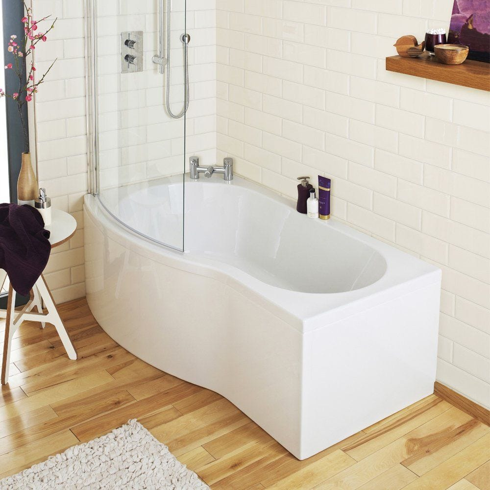 Nuie Acrylic 1500mm B-Bath Front Panel - Gloss White