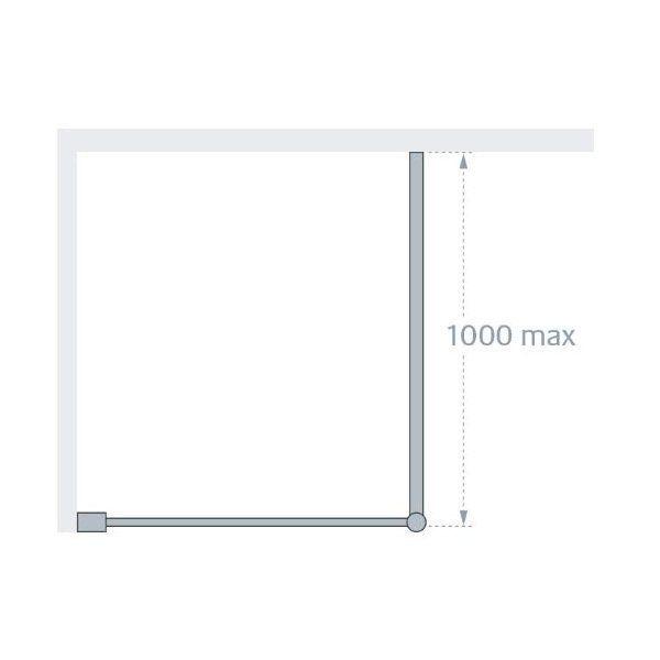 1200mm x 1900mm wetroom shower Screen Panel 8mm